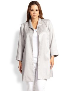 Eileen Fisher, Sizes 14-24 High-Collar Coat