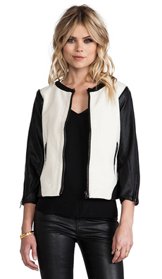 Sanctuary Mixed Vegan Jacket in White