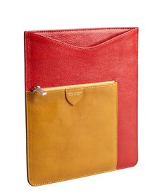 Marc Jacobs red and ocher leather iPad case