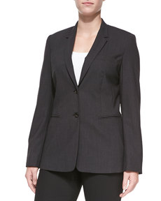 Escada Bulca Two-Button Blazer, Anthra
