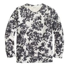 Photo floral sweatshirt