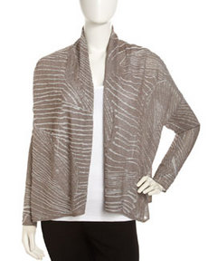 Lafayette 148 New York Open-Front Knit Cardigan, Nougat