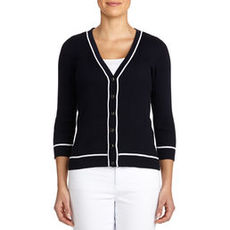V-Neck Cardigan Sweater
