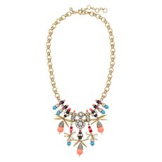Jeweled color burst necklace