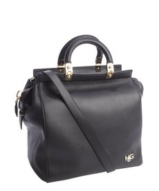 Givenchy black leather 'HDG' convertible tote bag