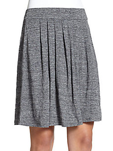 Eileen Fisher Pleated Linen Knit Skirt