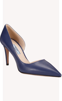 Prada Half d'Orsay Point-Toe Pumps