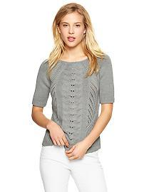 Mix-cable sweater top