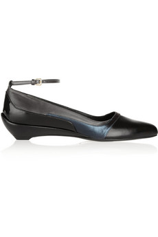 Jil Sander Color-block leather ballet flats