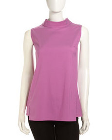 Lafayette 148 New York Sharona Sleeveless Poplin Blouse