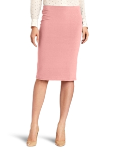 Three Dots Red Women's Jackie Jersey Double Pencil Skirt