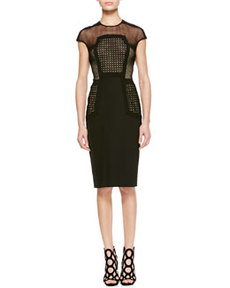 Placed-Lace Sheath Dress   Placed-Lace Sheath Dress