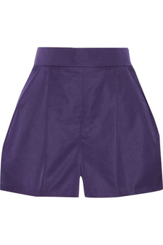 Chloé Pleated faille shorts