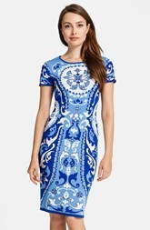 Cynthia Steffe 'Briella' Short Sleeve Print Dress