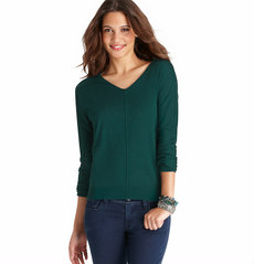 V-Neck Seam Detail Sweater