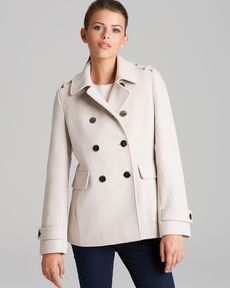 Calvin Klein Peacoat - Double Breasted Military