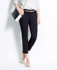 Petite Modern Cotton Sateen Cropped Pants