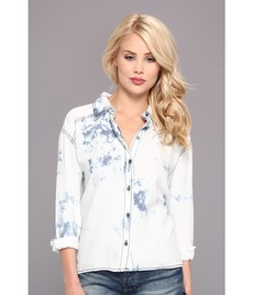 Michael Stars Cloud Wash Hi Low Button Up