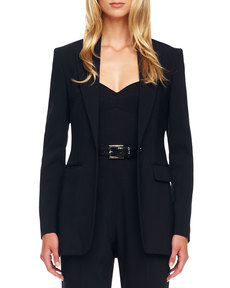 Michael Kors One-Button Crepe Jacket