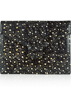 Oscar de la Renta Grafton large printed elaphe clutch