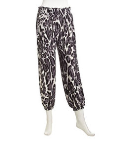 T Bags Stretch Leopard Pull-On Pants