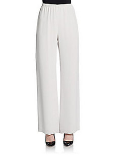 Lafayette 148 New York Silk Wide-Leg Pants