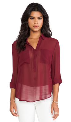 Sanctuary Soft Wovens Cafe Tunic in Burgundy