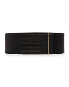 Lanvin Wide Grip-Strap Belt, Black
