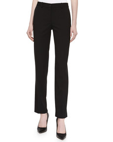 Michael Kors Tapered Gabardine Suiting Pants, Black