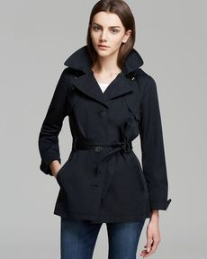 Ellen Tracy Rain Trench - Single Breasted