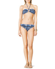 MICHAEL Michael Kors Logo-Ring Bandeau Swim Top