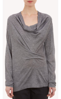 Derek Lam Ruched-Detail Pullover Sweater