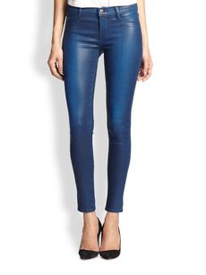 J Brand 620 Mid-Rise Super Skinny Stocking Jeans