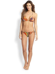 Jean Paul Gaultier Two-Piece Foto Patch Print String Bikini Set