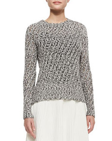 Knit Open Weave-Sweater   Knit Open Weave-Sweater
