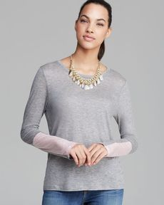 J Brand Tee - Amirah Draped Color Block