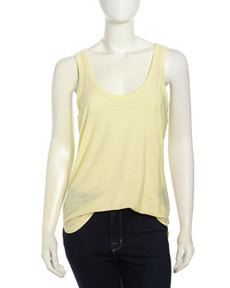 James Perse Ribbed Slub-Knit Tank Top, Oz