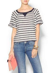 C&C California Stripe Short Sleeve Terry Top