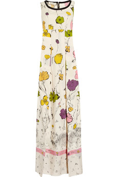 Marni Scratchy Cat printed cotton maxi dress