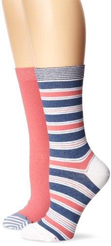 Tommy Hilfiger Women's Two-Pair Pack Stripe Crew Socks