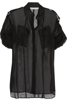 Jason Wu Silk-georgette shirt