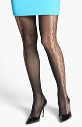 kensie Openwork Panel Tights