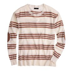 Merino triple-stripe elbow-patch sweater