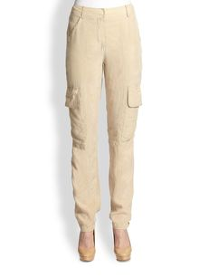 Saks Fifth Avenue Collection Washed Cargo Pants