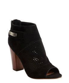 DV by Dolce Vita black faux suede perforated detail 'Marana' ankle boots