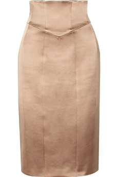 Burberry Prorsum Sateen pencil skirt