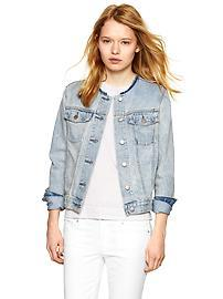 1969 collarless denim jacket
