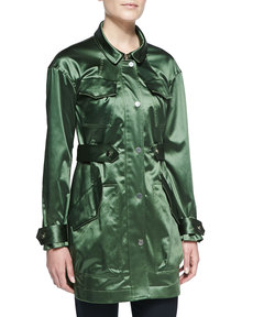Jason Wu Satin-Finish Twill Parka