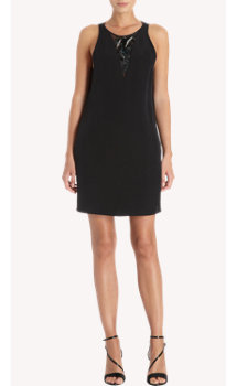 3.1 Phillip Lim Sequin and Jewel Neck Panel Shift Dress