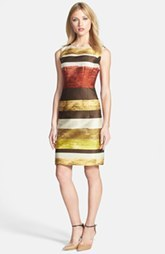 Lafayette 148 New York 'Evelyn - Tempra Stripe' Jacquard Sheath Dress (Petite) (Petite)